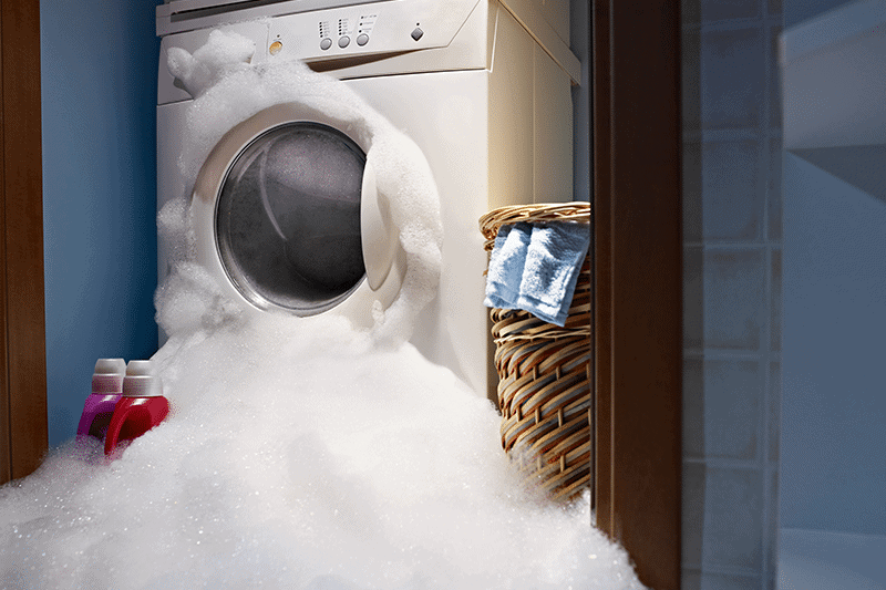 too much soap in your washer