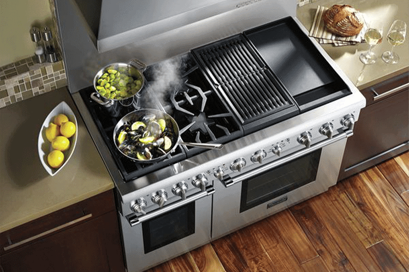 difference between dual fuel range and gas range