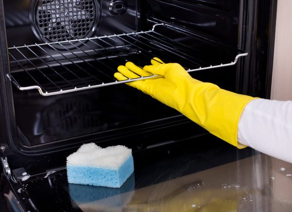 natural oven cleaning method