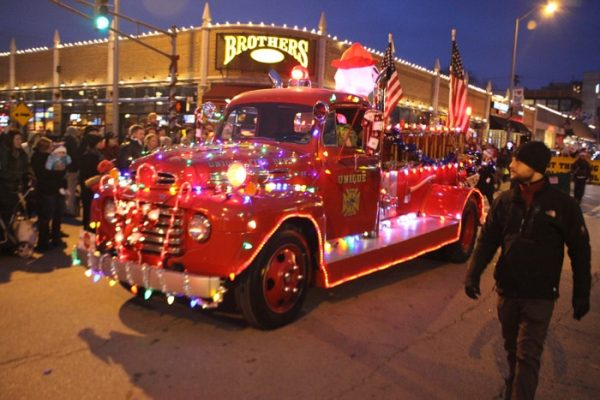christmas light parade in indianapolis